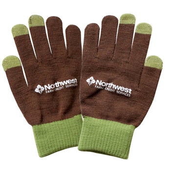 Two Tone Touchscreen Gloves